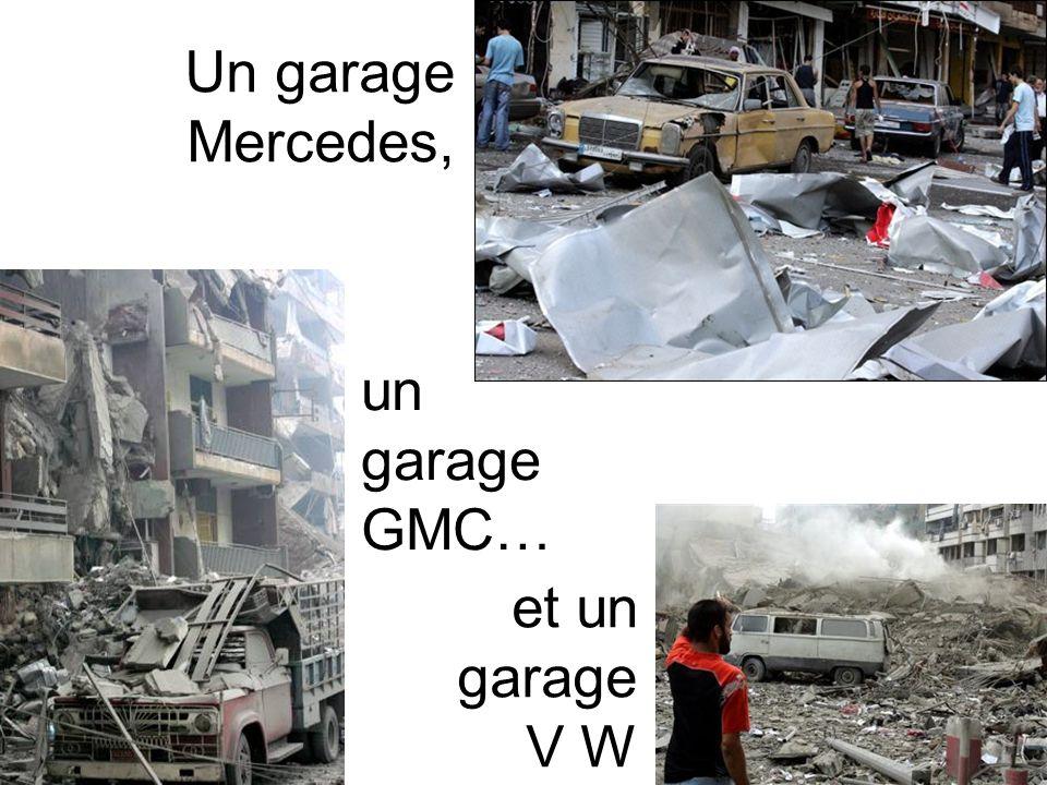 Un garage Mercedes, un garage GMC… et un garage V W