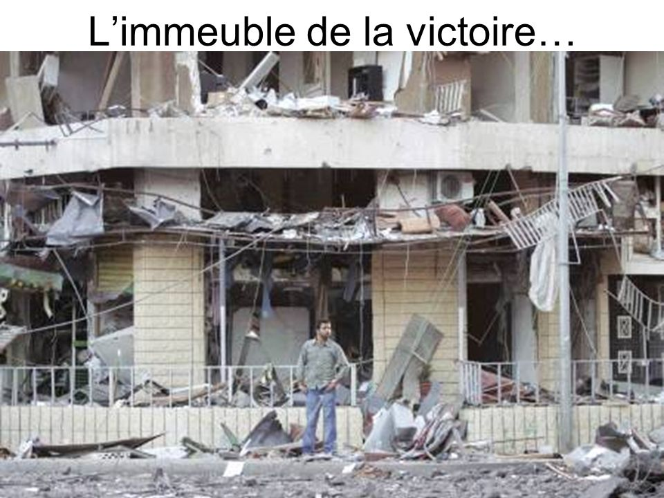 L'immeuble de la victoire…