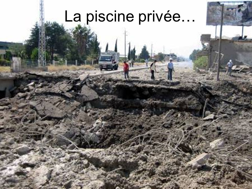 La piscine privée…
