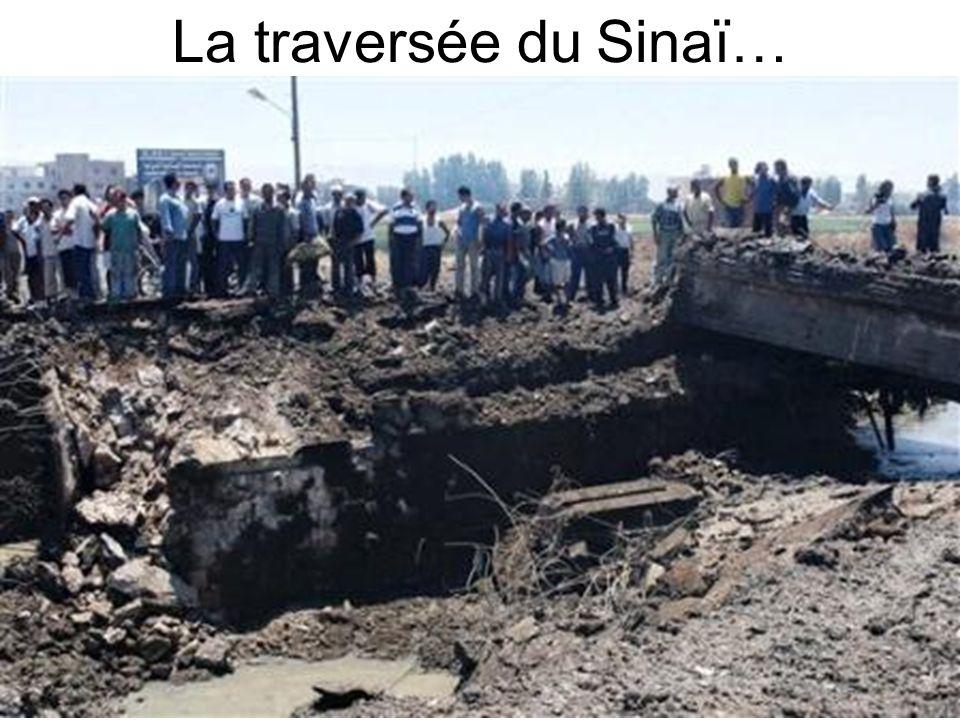 La traversée du Sinaï…