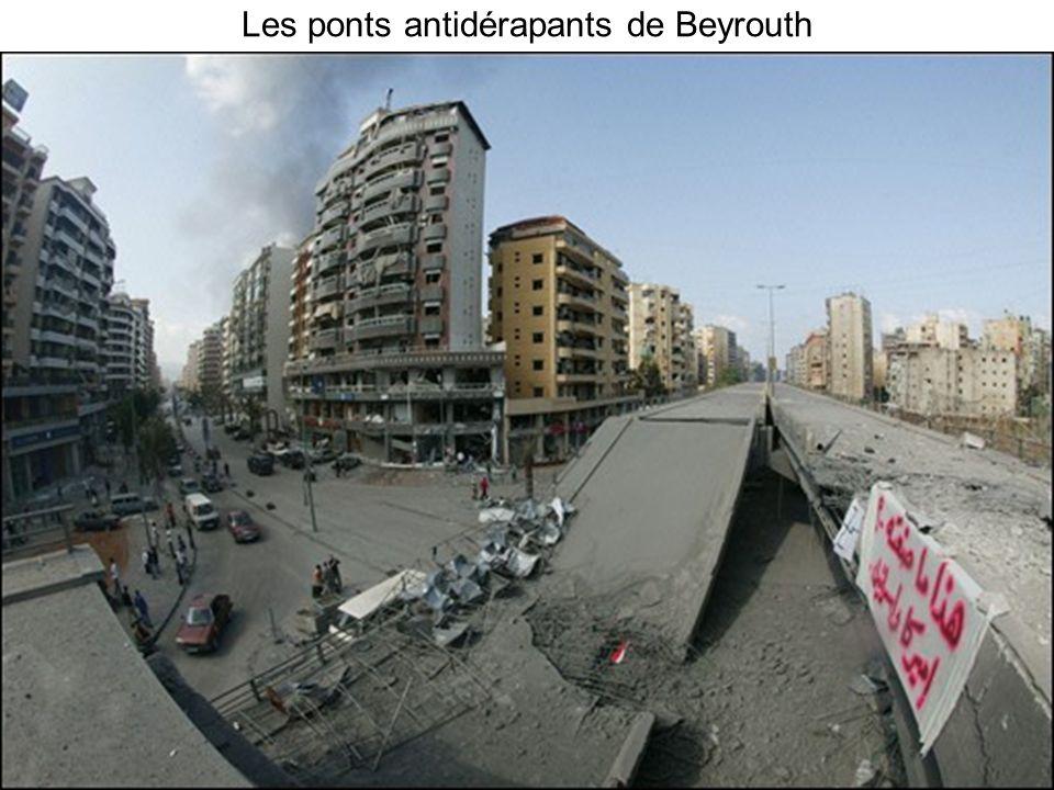 Les ponts antidérapants de Beyrouth