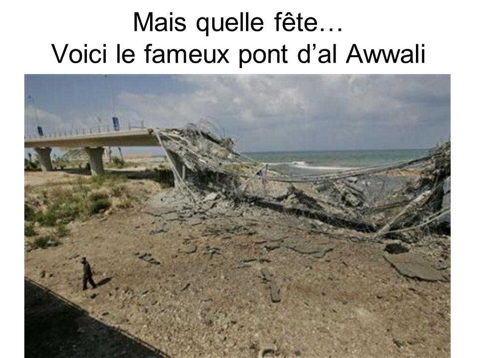 Mais quelle fête… Voici le fameux pont d'al Awwali