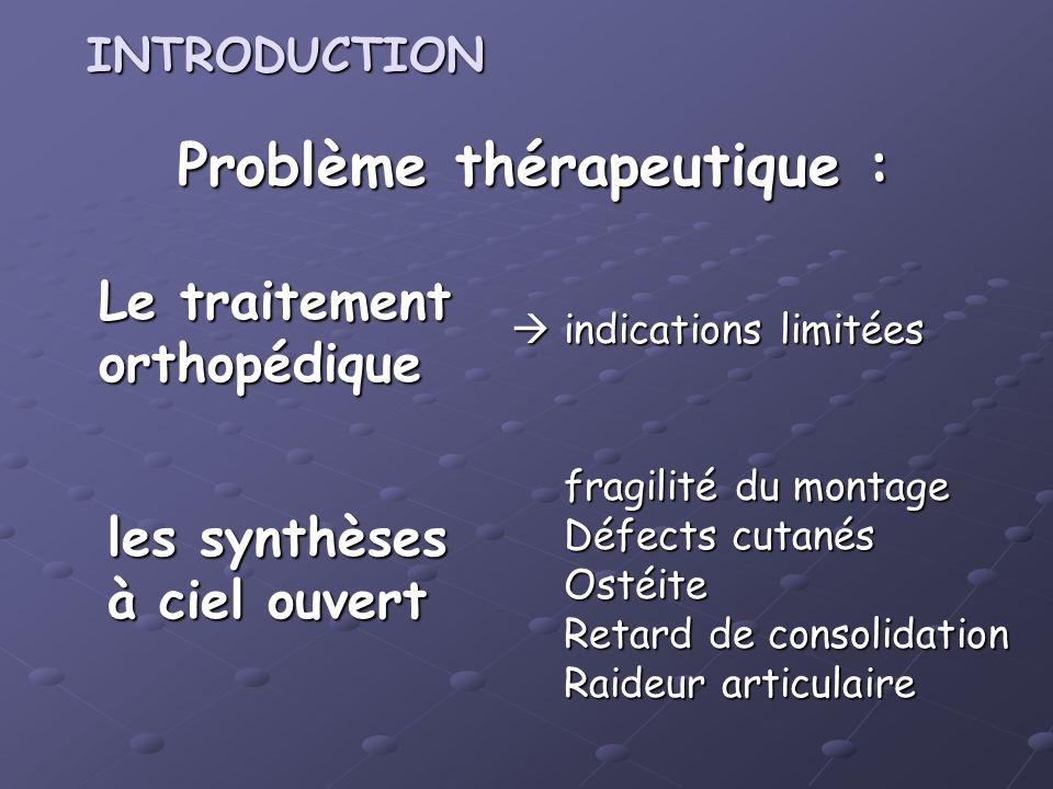 Problème thérapeutique :
