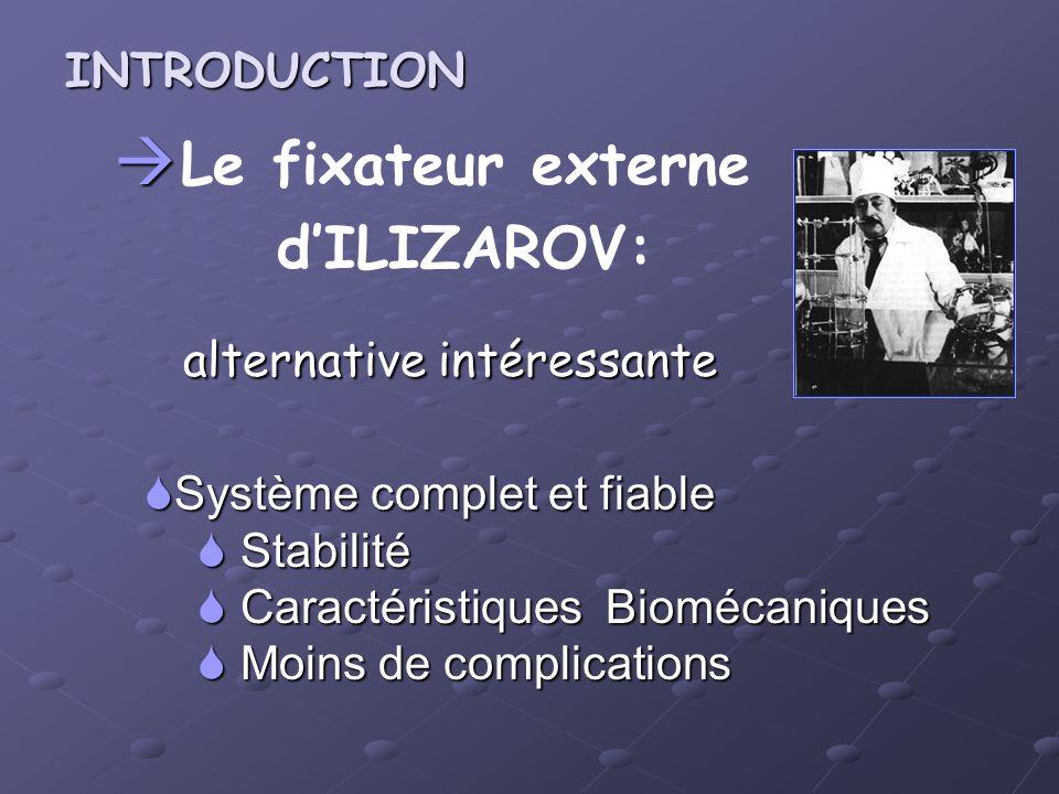 Le fixateur externe d'ILIZAROV: