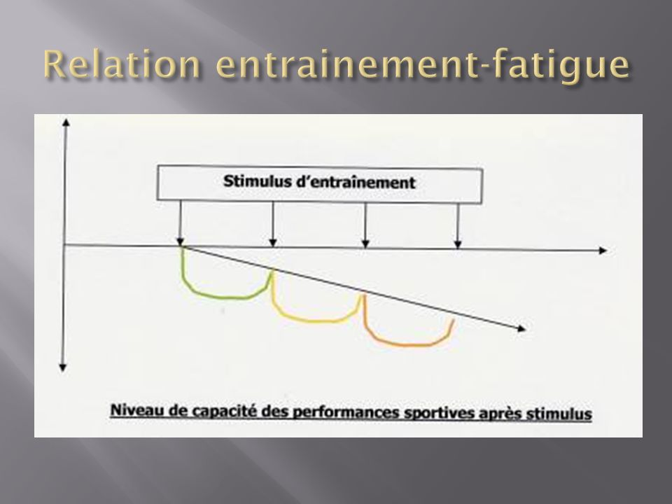 Relation entrainement-fatigue