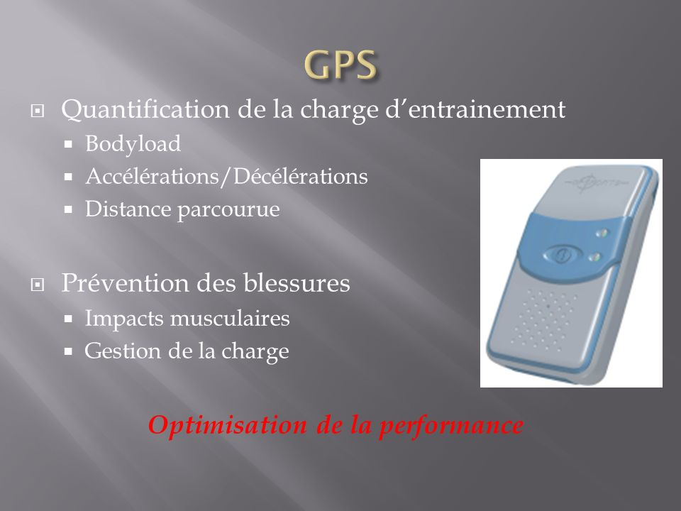 Optimisation de la performance