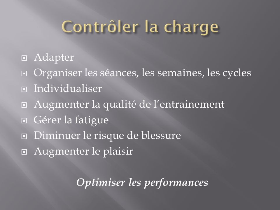 Optimiser les performances