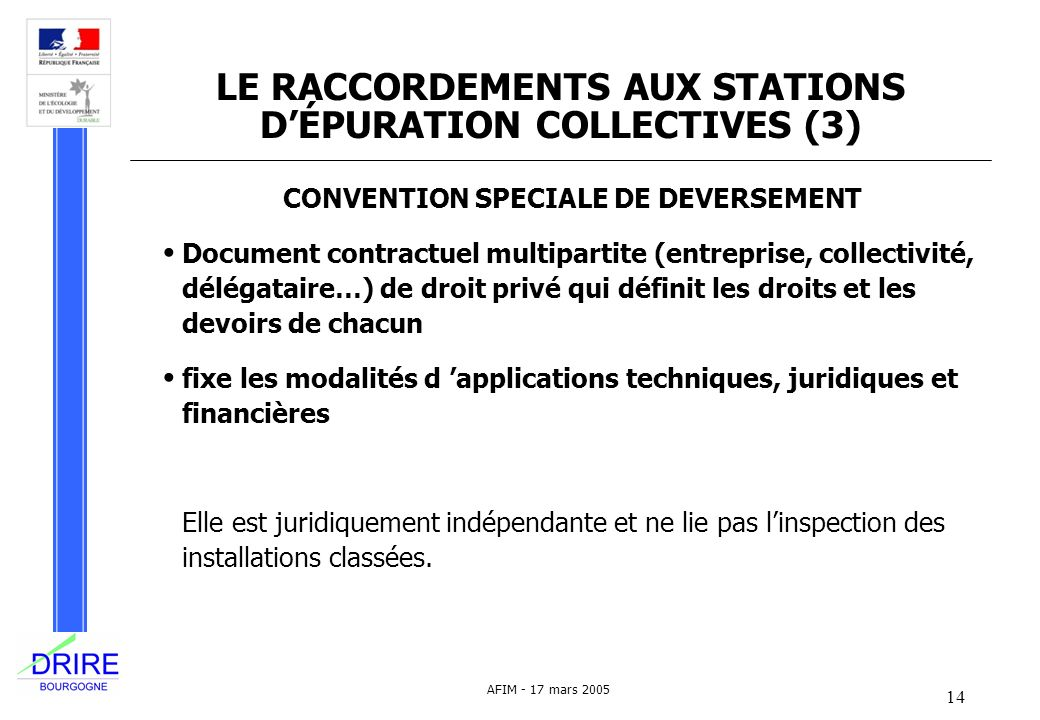 LE RACCORDEMENTS AUX STATIONS D'ÉPURATION COLLECTIVES (3)