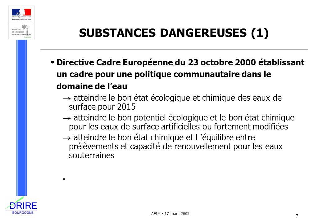 SUBSTANCES DANGEREUSES (1)