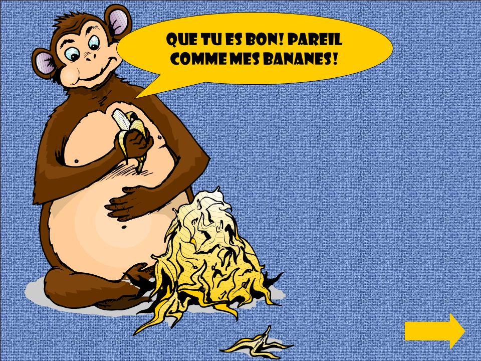 Que tu es bon! Pareil comme mes bananes!