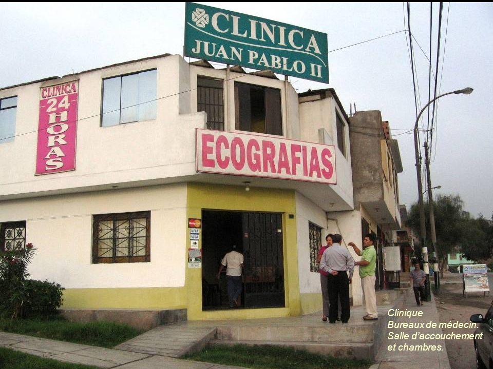 Clinique Bureaux de médecin. Salle d'accouchement et chambres.
