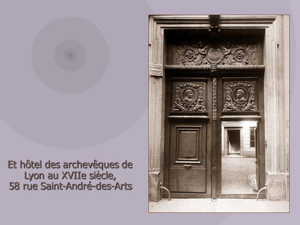 Et hôtel des archevêques de Lyon au XVIIe siècle,