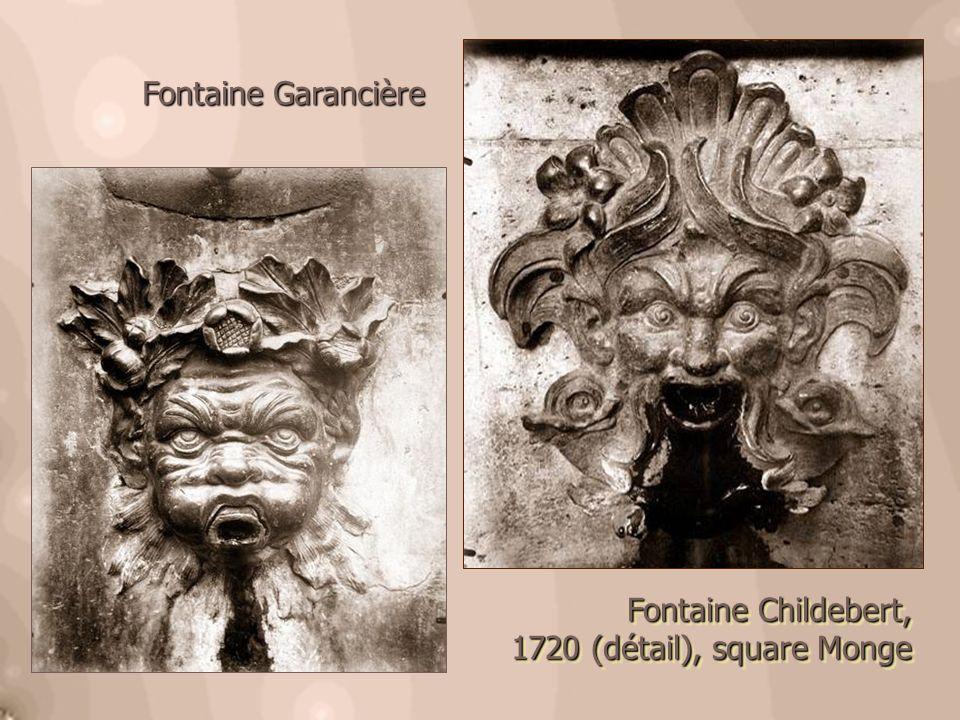 Fontaine Garancière Fontaine Childebert, 1720 (détail), square Monge