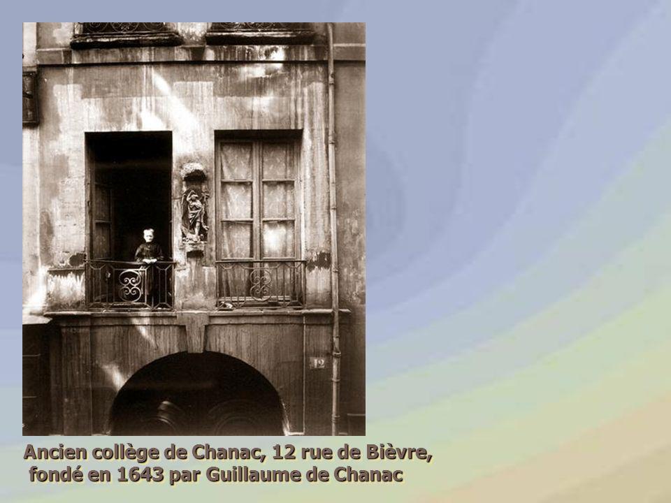 Ancien collège de Chanac, 12 rue de Bièvre,