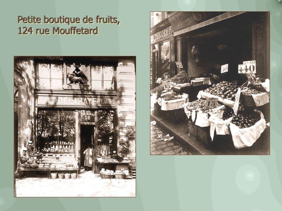 Petite boutique de fruits,