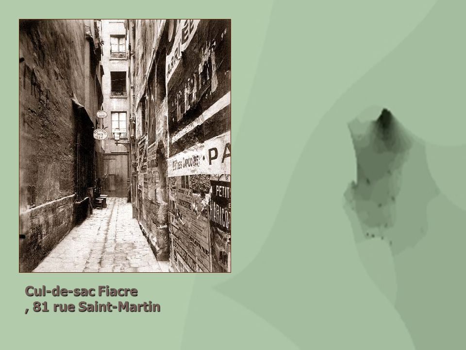 Cul-de-sac Fiacre , 81 rue Saint-Martin