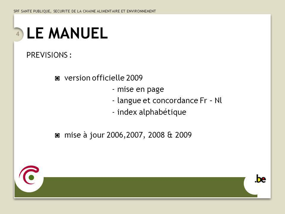 LE MANUEL PREVISIONS : ◙ version officielle 2009 - mise en page