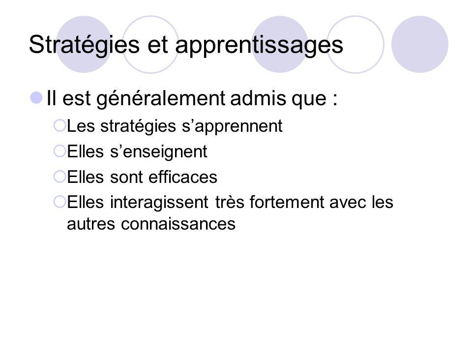 Stratégies et apprentissages