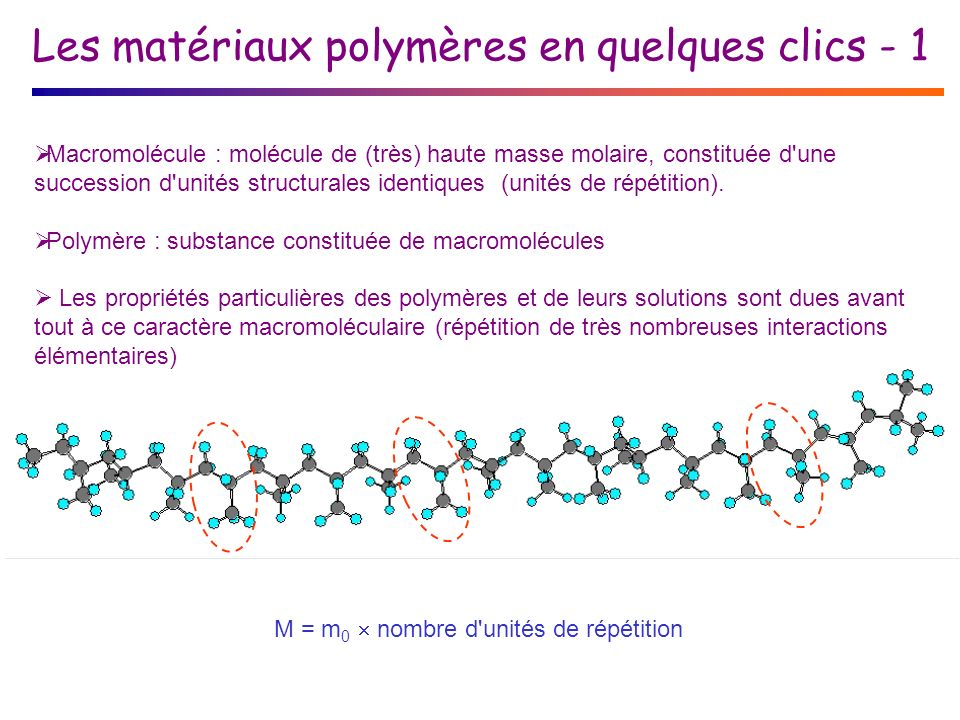 Les matériaux polymères en quelques clics - 1