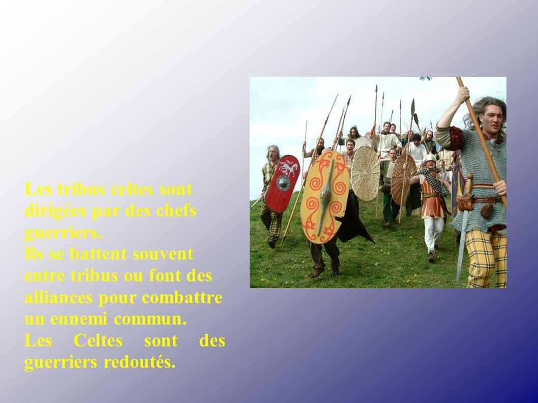 Les tribus celtes sont dirigées par des chefs guerriers.