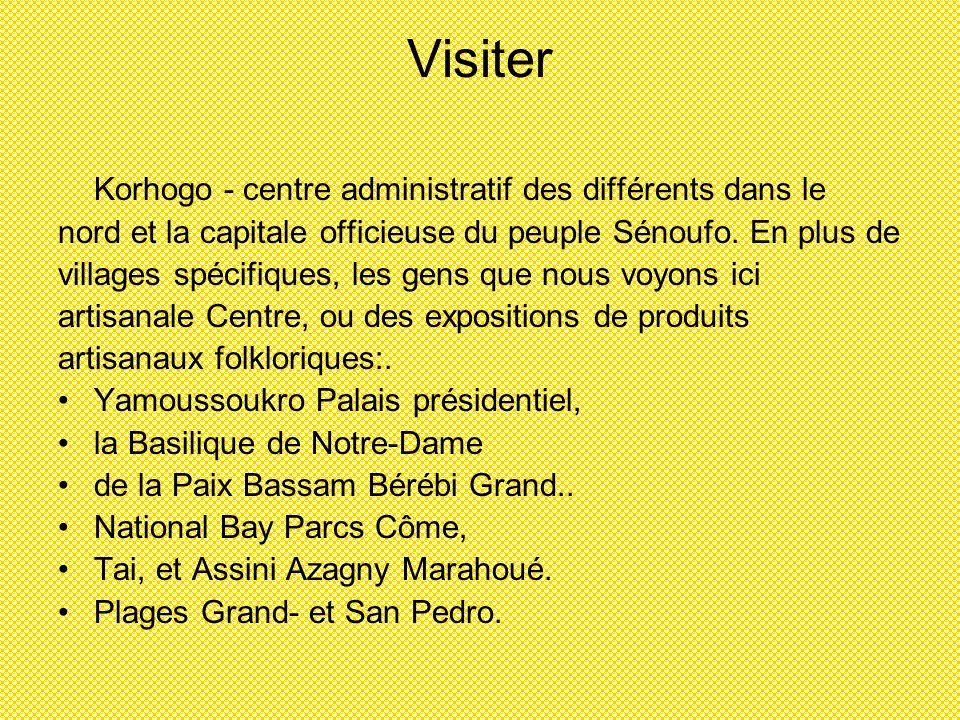 Visiter Korhogo - centre administratif des différents dans le