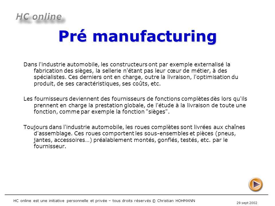 Pré manufacturing
