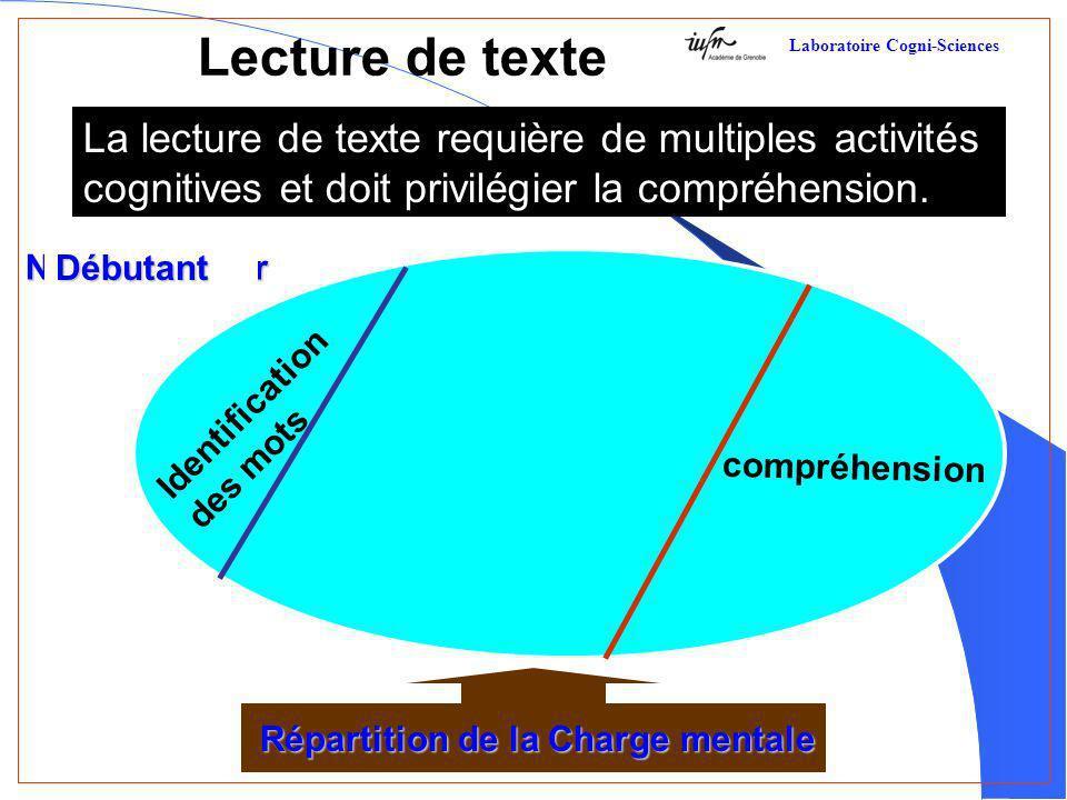 Lecture de texte La lecture de texte requière de multiples activités