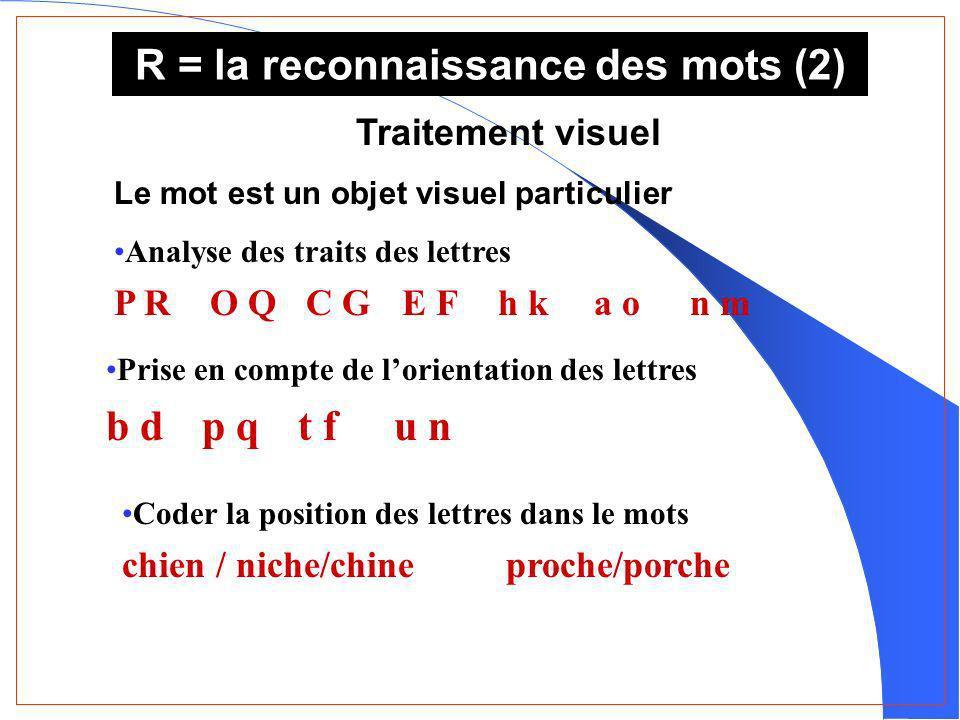 R = la reconnaissance des mots (2)