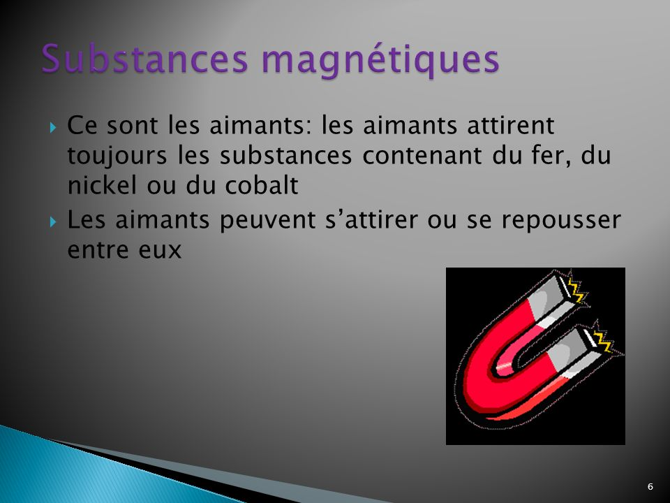 Substances magnétiques