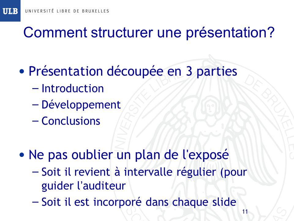 Comment structurer une présentation
