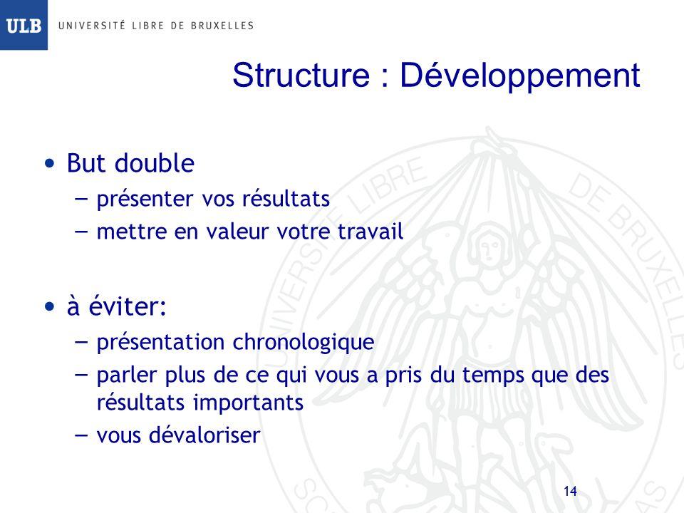 Structure : Développement