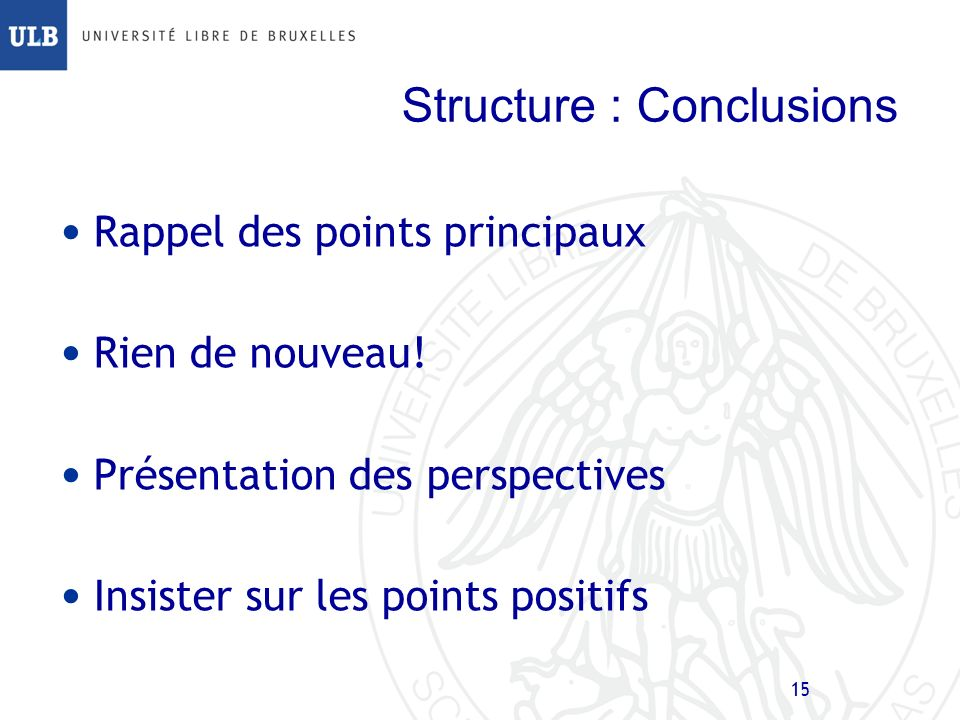 Structure : Conclusions