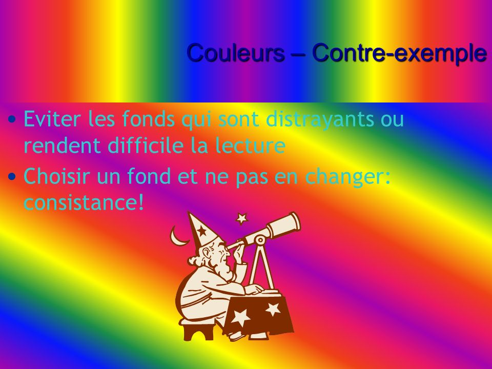 Couleurs – Contre-exemple