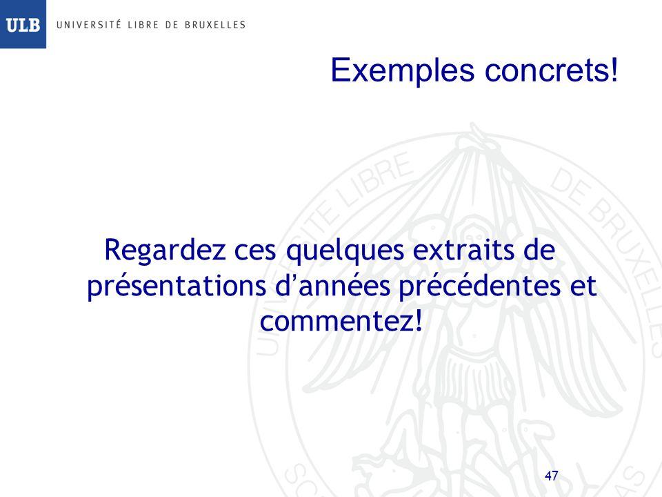 Exemples concrets.