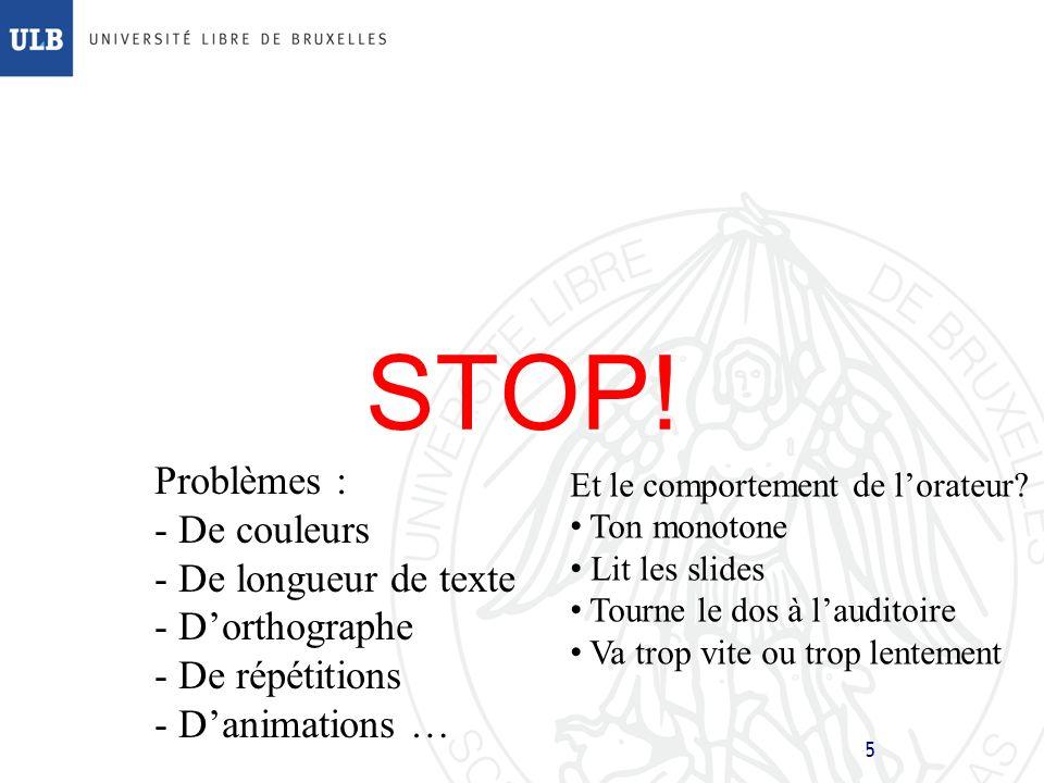 STOP! Problèmes : De couleurs De longueur de texte D'orthographe