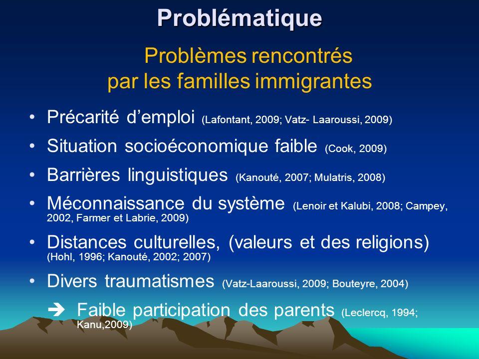 par les familles immigrantes