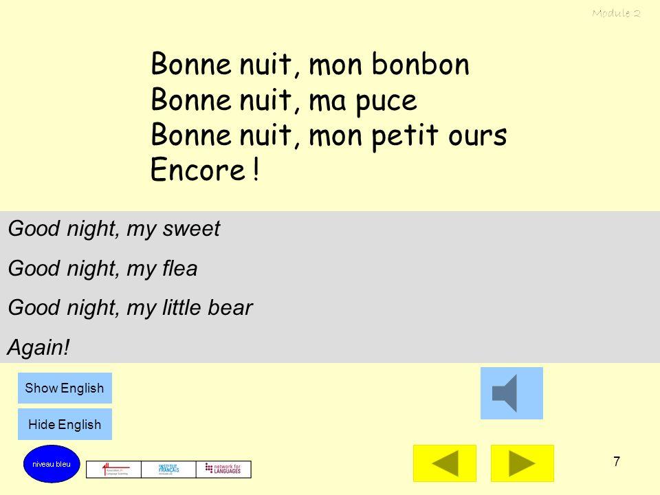 Bonne nuit, mon petit ours Encore !