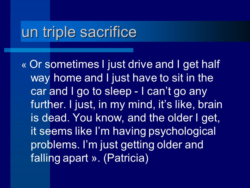 un triple sacrifice