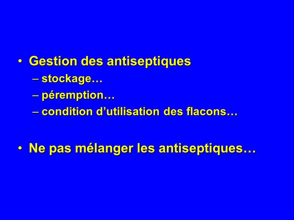 Gestion des antiseptiques