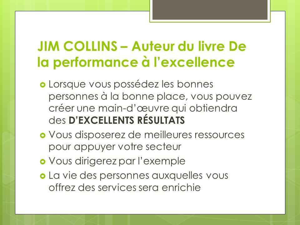 JIM COLLINS – Auteur du livre De la performance à l'excellence