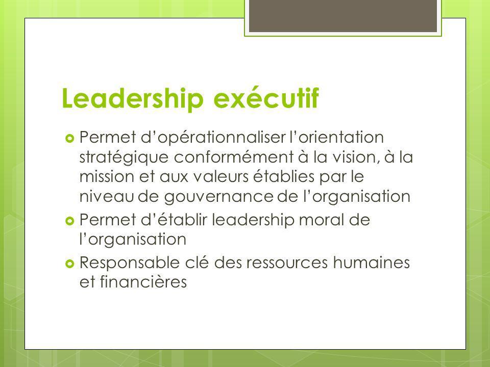 Leadership exécutif