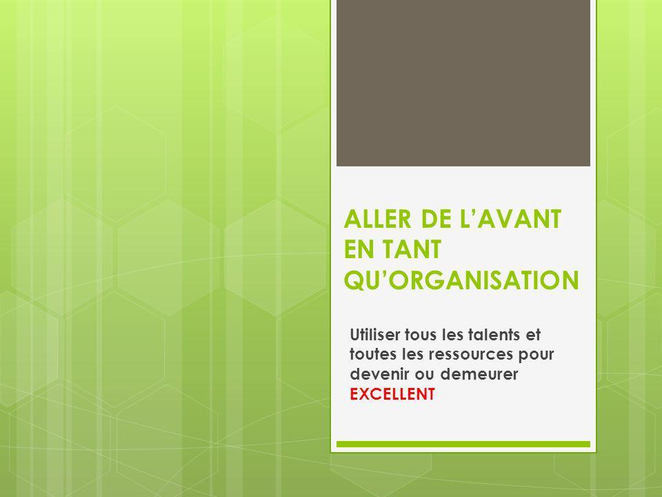 ALLER DE L'AVANT EN TANT QU'ORGANISATION