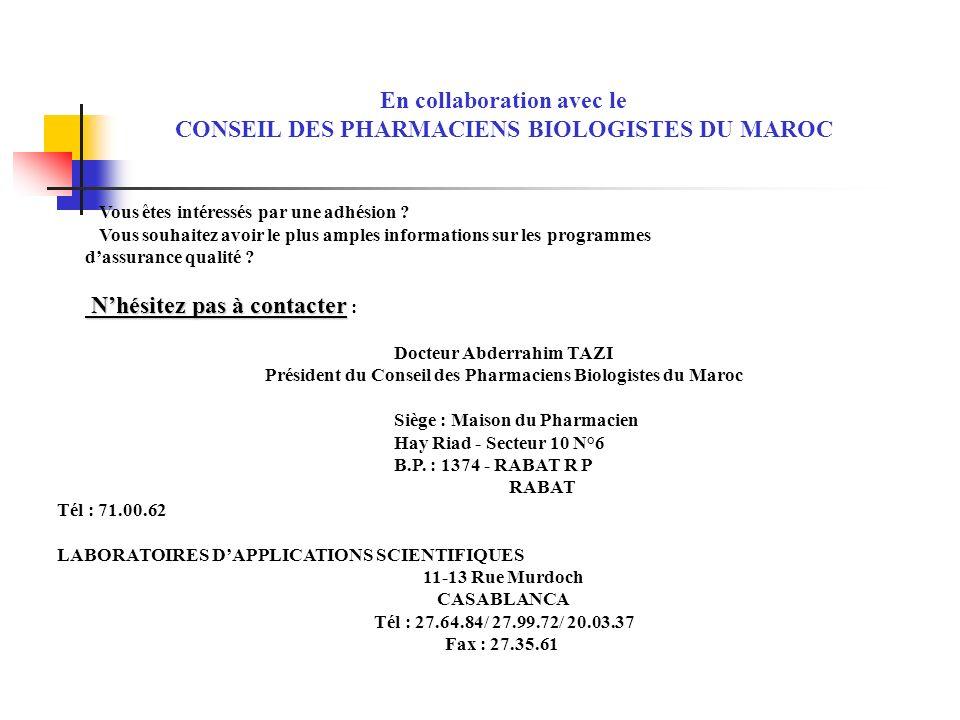 Guide des bonnes pratiques de laboratoire au maroc ppt - Cabinet de conseil en strategie maroc ...