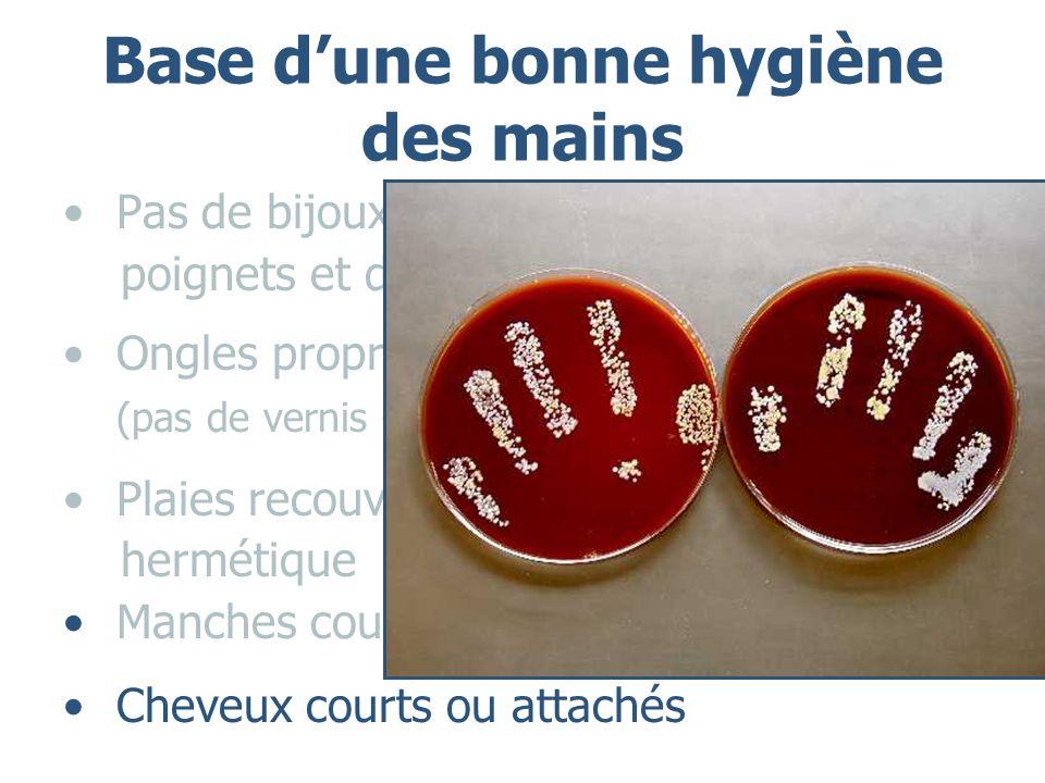 Base d'une bonne hygiène des mains
