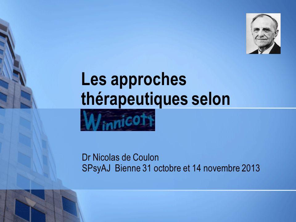 Les approches thérapeutiques selon Winnicott