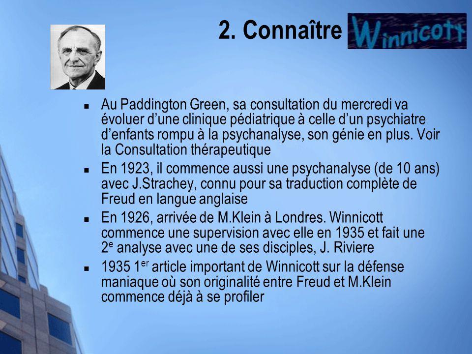 2. Connaître Winnicott