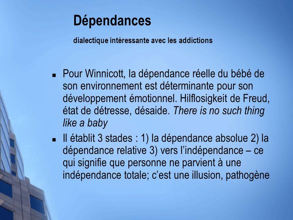 Dépendances dialectique intéressante avec les addictions