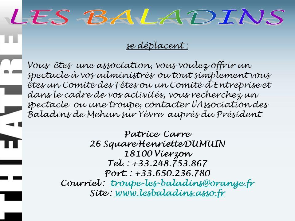 Patrice Carre 26 Square Henriette DUMUIN