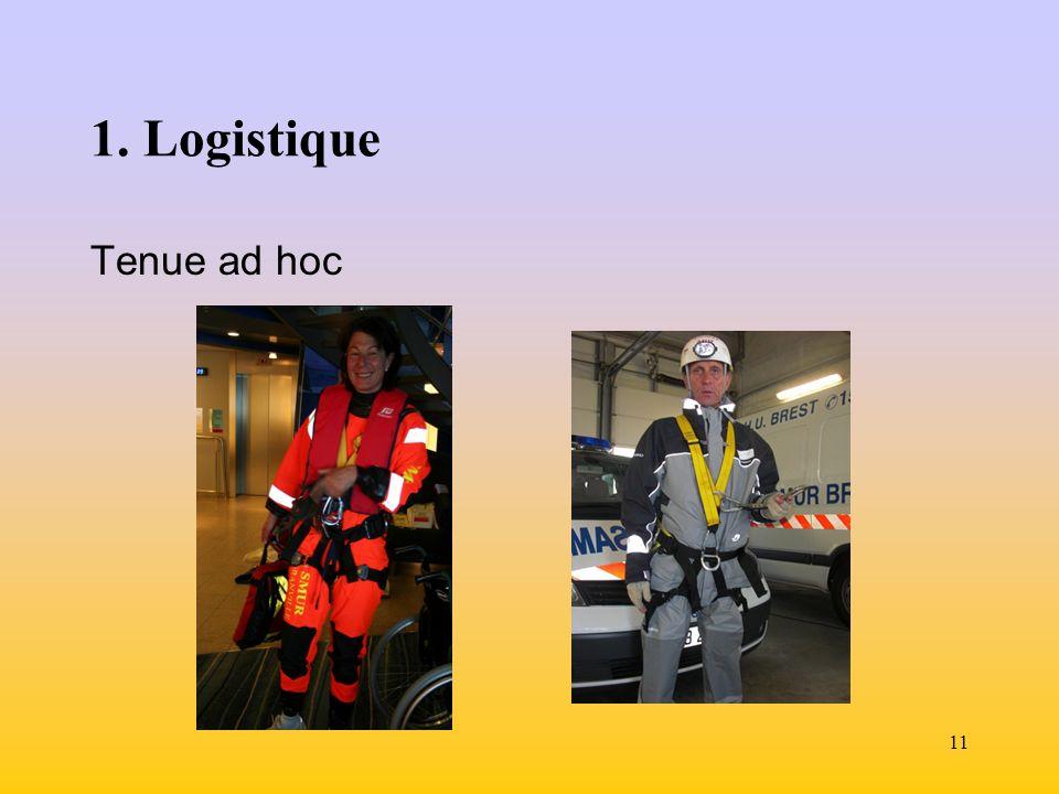 1. Logistique Tenue ad hoc