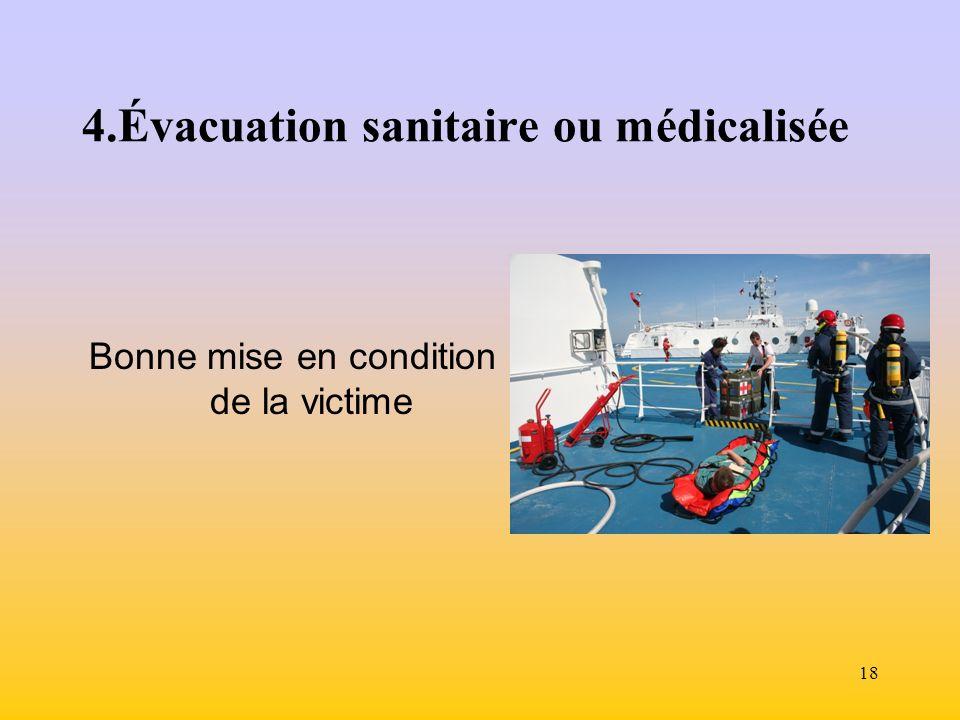 4.Évacuation sanitaire ou médicalisée
